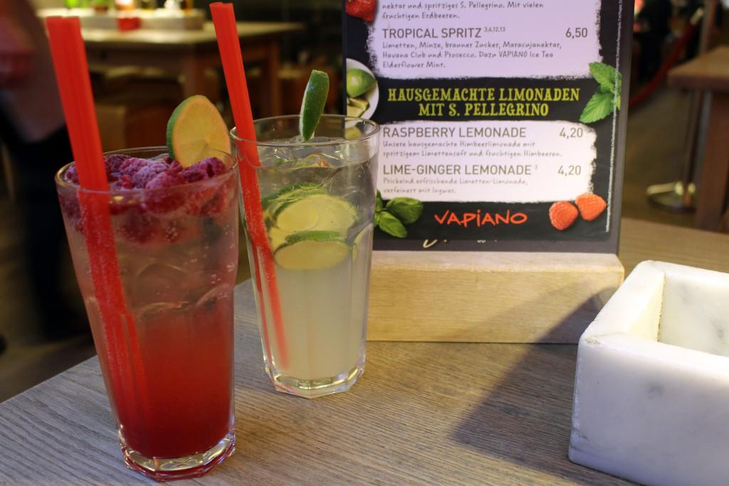 Vapiano, 2016, Summerdrinks, Raspberry, Lime Ginger, Lemonade, alkoholfrei, Drinks