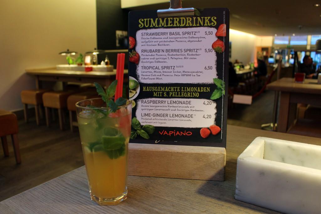 Vapiano, Summerdrinks, 2016, Spritz, Tropical, Havana Club, Prosecco, Maracuja, Ice Tea, Elderflower Mint